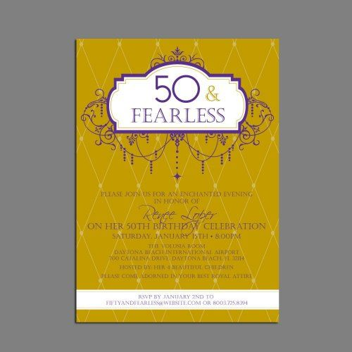 funny 50th birthday party invitations wording free printable