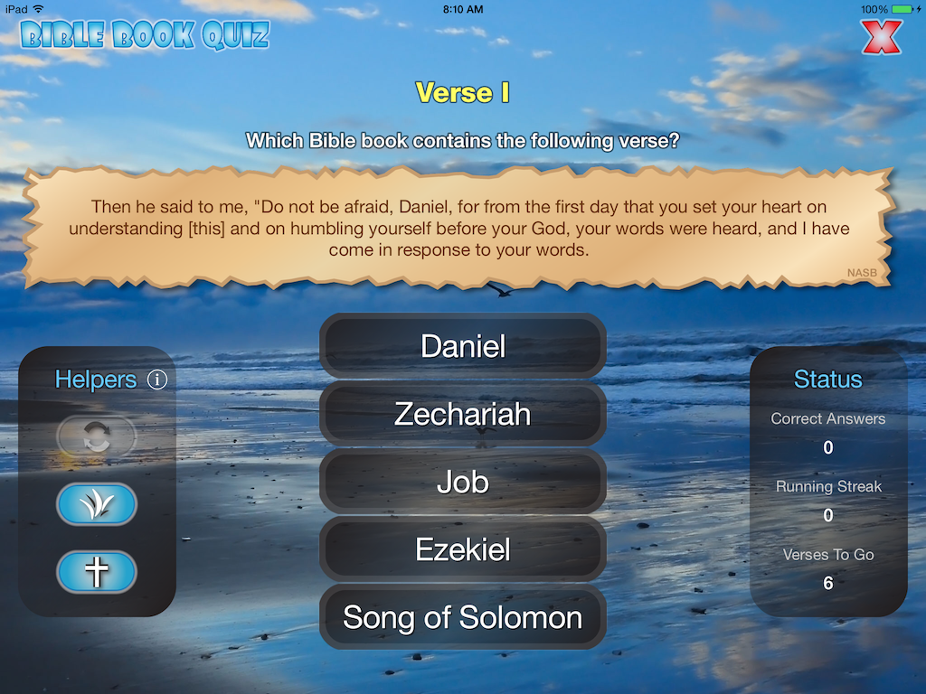 """""""Then he said to me, 'Do not be afraid, Daniel, for from the first day that you set your heart on understanding this and on humbling yourself before your God, your words were heard, and I have come in response to your words."""" is a verse from which Bible book? See answer on BibleGateway: https://www.biblegateway.com/passage/?search=Daniel+10%3A12&version=NASB (Screenshot from *FREE* app: https://itunes.apple.com/app/id775306923)"""