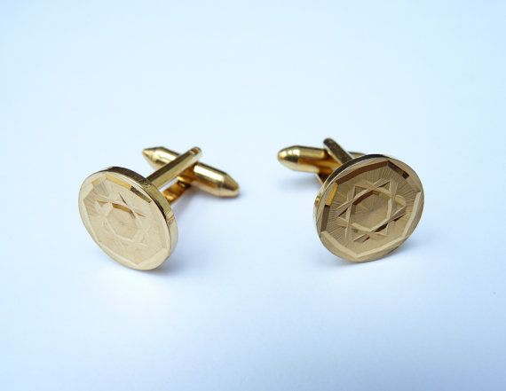 Vintage gold-plated Sophos cufflinks Cabinet22 by Cabinet22 | All