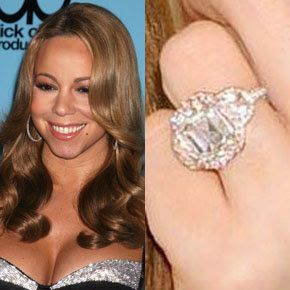 Mariah Carey Was Another Celeb Who Bagged Herself A Huge Rock When She Got Engaged To