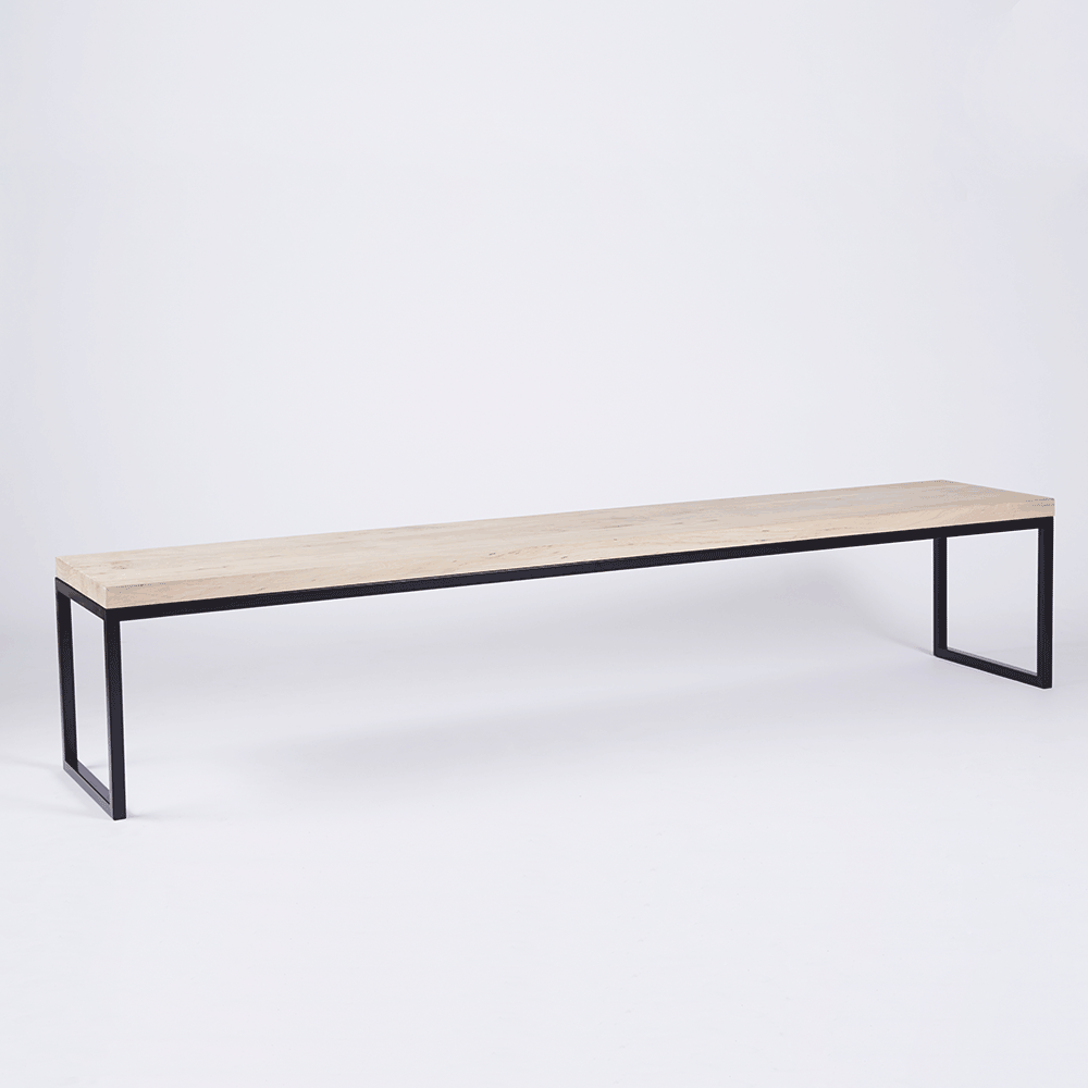 Groovy The Alexandria Dining Bench Is An Industrial Seating Piece Alphanode Cool Chair Designs And Ideas Alphanodeonline