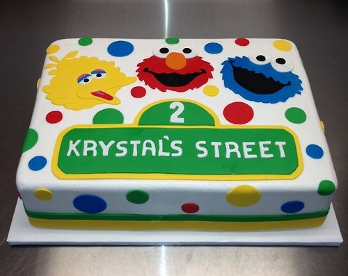 Sesame Street Cake With Images Sesame Street Birthday Cakes
