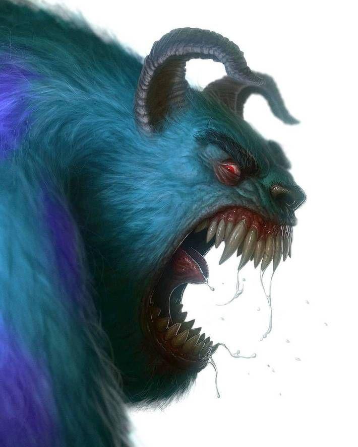 Characters Turned Into Monsters | Gruselige kunst