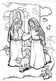 Image result for mary visits Elizabeth coloring page