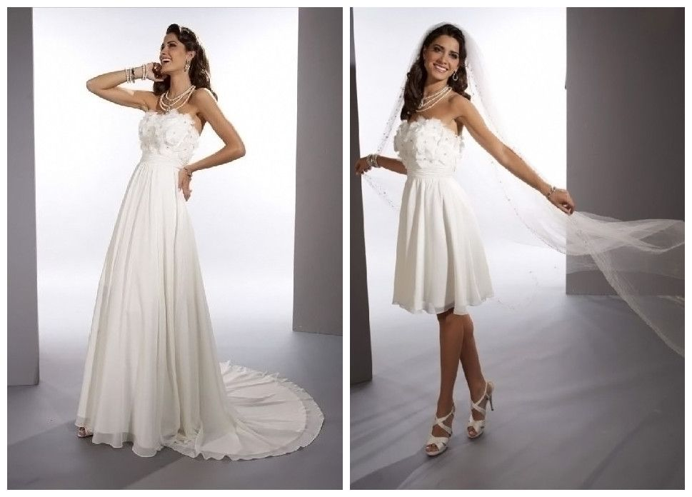 2 In 1 Wedding Dress I Like The Idea Of Being Able To Remove Part My For Reception Not Mention Fantastic Shape And Slimming