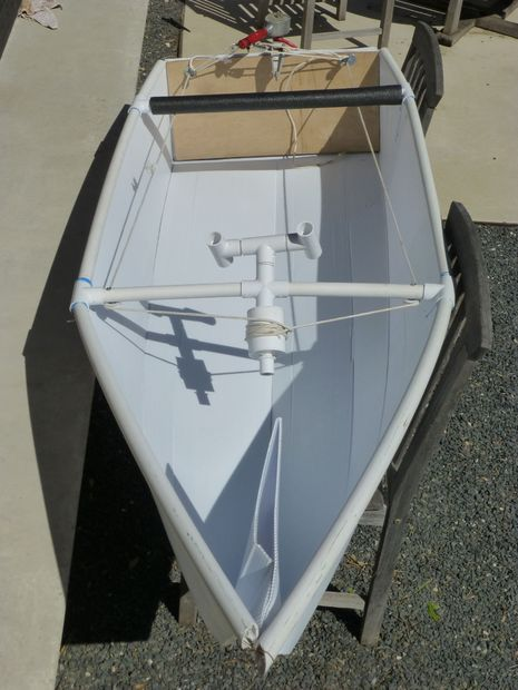 How to make a coroplast boat boating pvc pipe and pvc for Build fishing boat