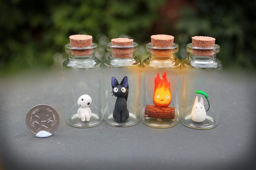 Studio Ghibli Critters In Bottles By Kakkoiito Deviantart Com On Deviantart Studio Ghibli Crafts Studio Ghibli Ghibli