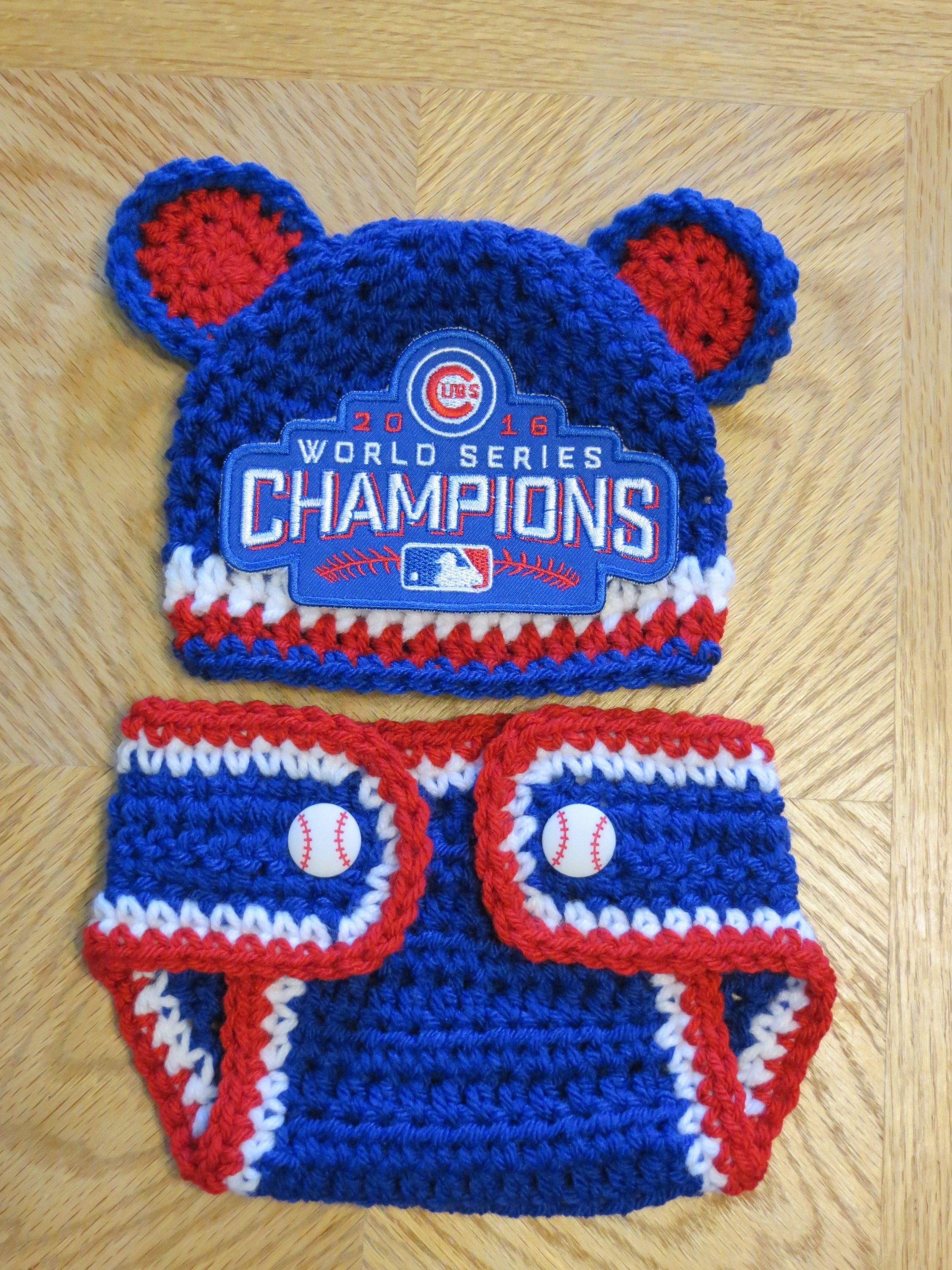 c2ea4f856e2 50% off baby boy cubs crochet hat diaper cover optional newborn and up  photo prop