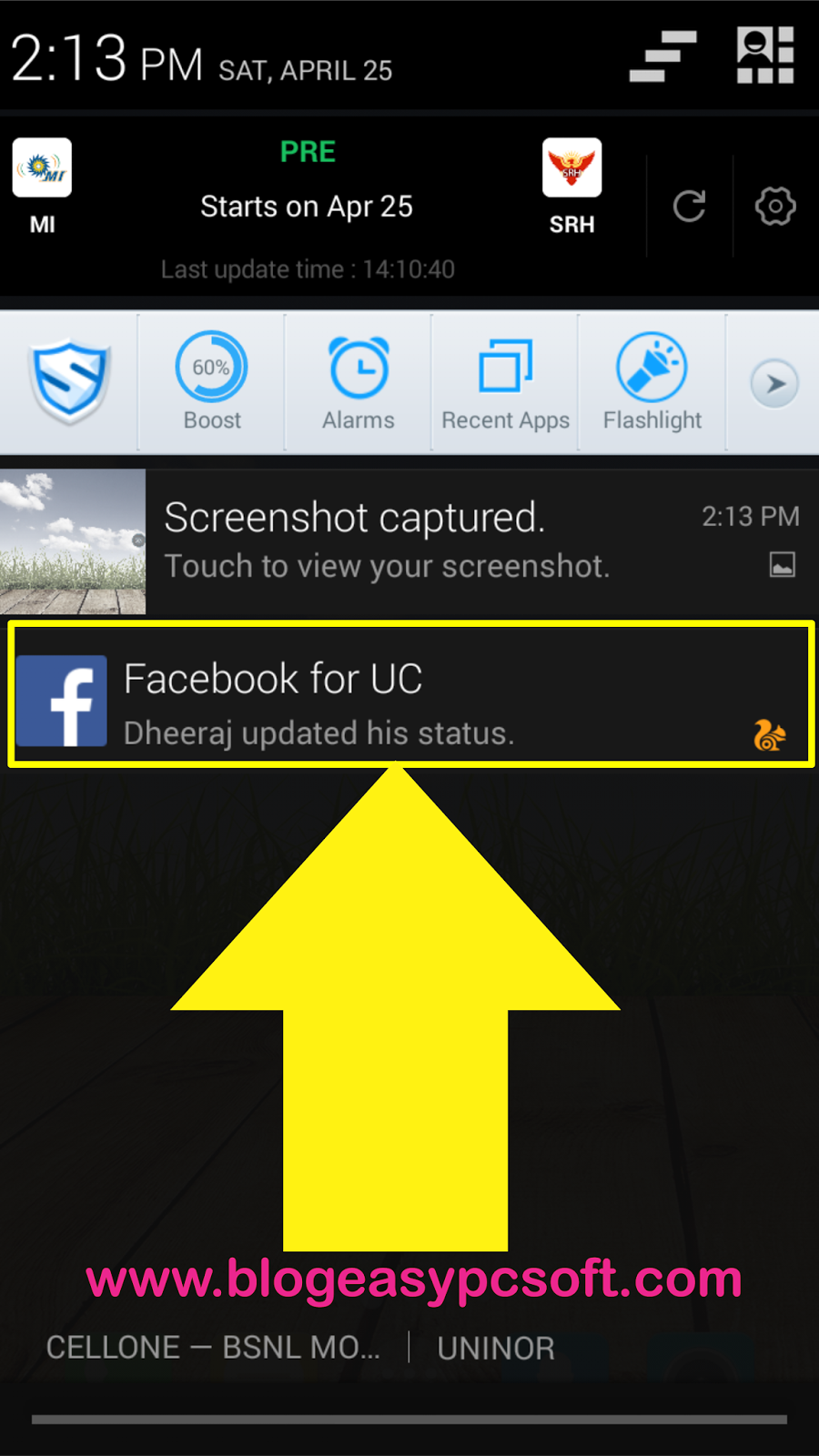 How To Enable-Disable Facebook Notification in UC Browser