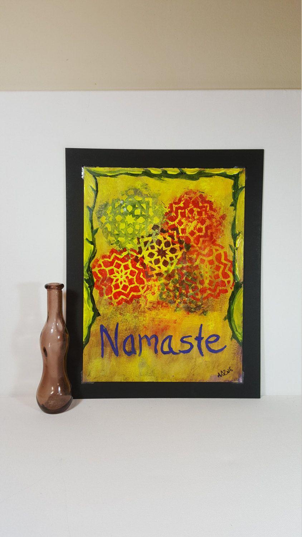Namaste Wall Art - Meditation Art - Buddhist Art - Meditation Room ...