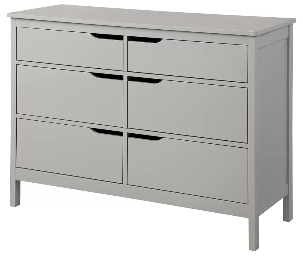 Arlot 6 Drawer Double Dresser Double Dresser Metal Drawers Drawers [ 853 x 1000 Pixel ]