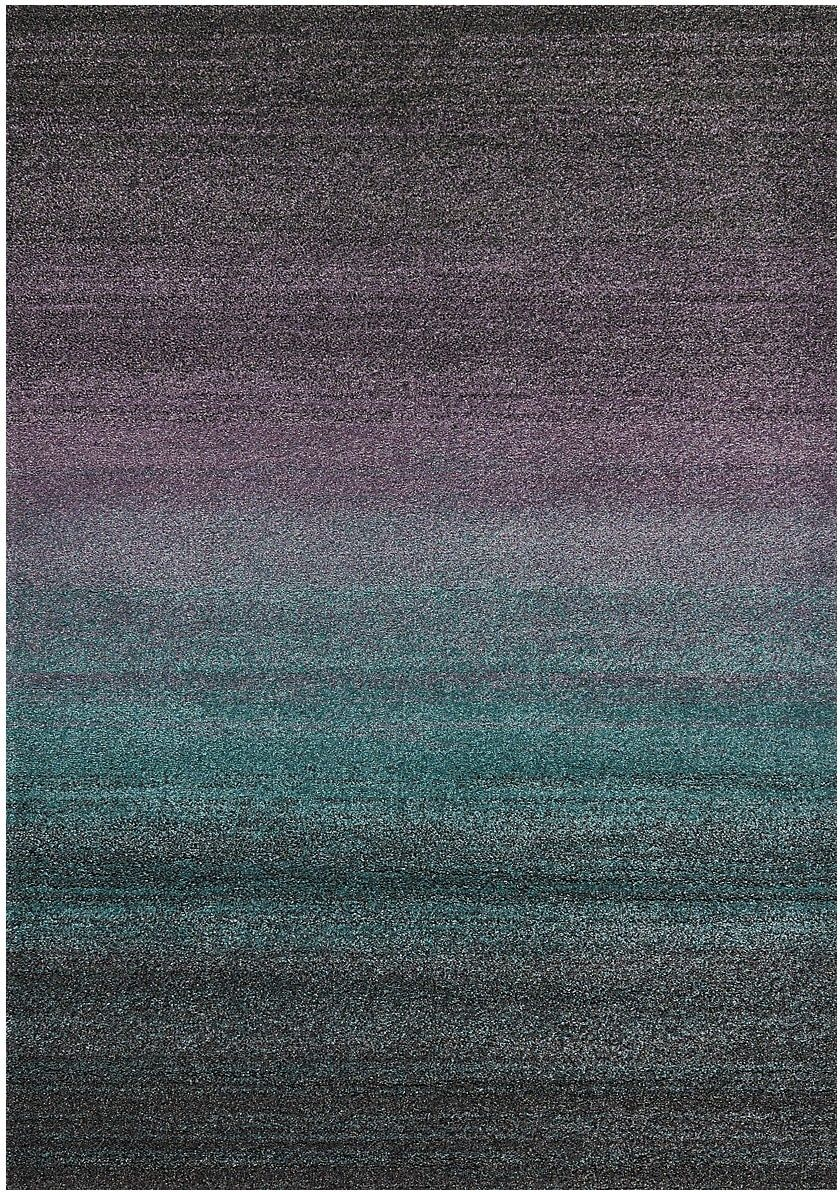 Incorporate a colourful contemporary touch in your home decor with this marvellous ashbury area rug the bold purple and turquoise centre fade into the