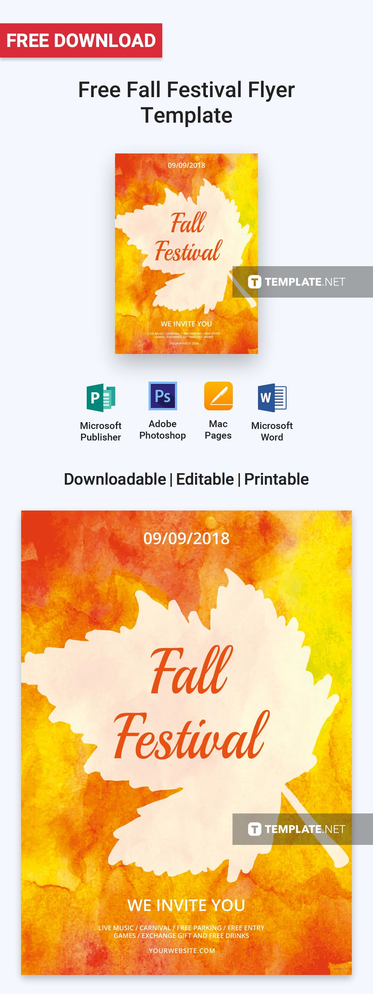free fall festival flyer flyer templates designs 2019 flyer
