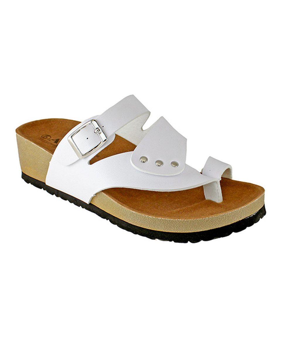 60b33db405de Loving this Agape White Rialto Sandal on  zulily!  zulilyfinds ...
