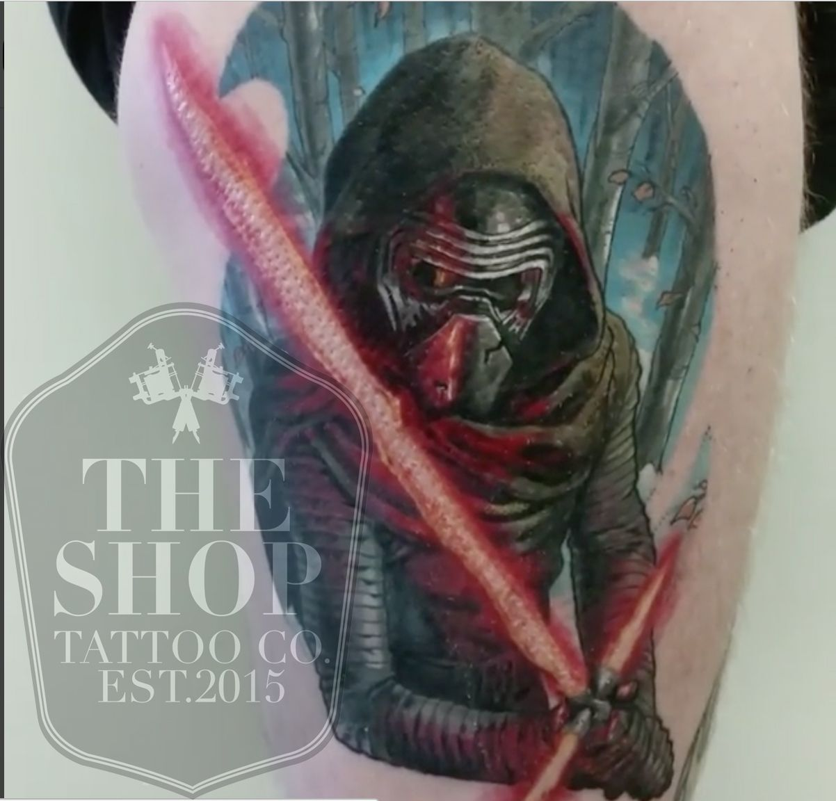 The Shop Tattoo Co Best Tattoo Shop In Toronto Star Wars Tattoo Kylo Ren Tattoo Star Wars Tattoo Star Tattoos Star Wars Tattoo Tattoo Shop