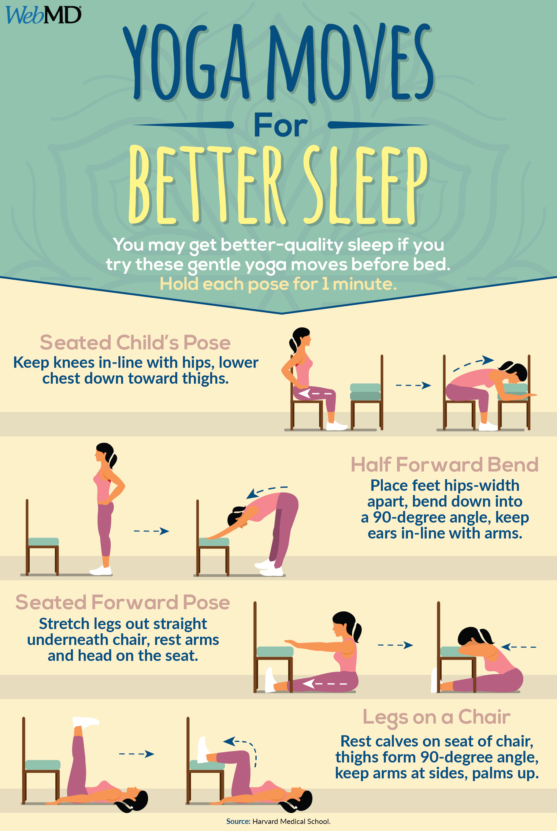 You may get better-quality sleep if you try these gentle yoga