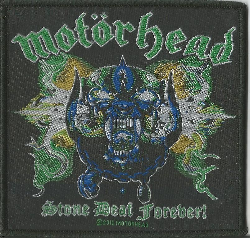 Motorhead stone deaf forever woven patch official band merchandise