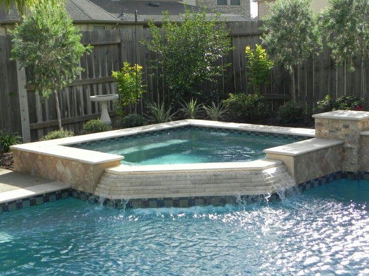 3 sided spillway and tile for spa face spas pinterest - Sognare piscine ...