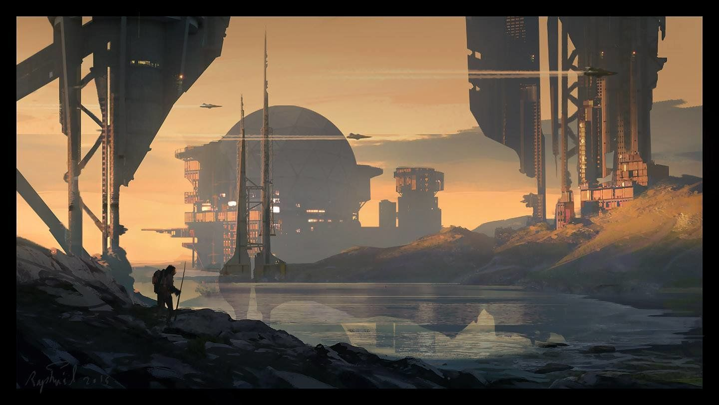 Done after a Sketch I did live during my Environment design course at NAD center
