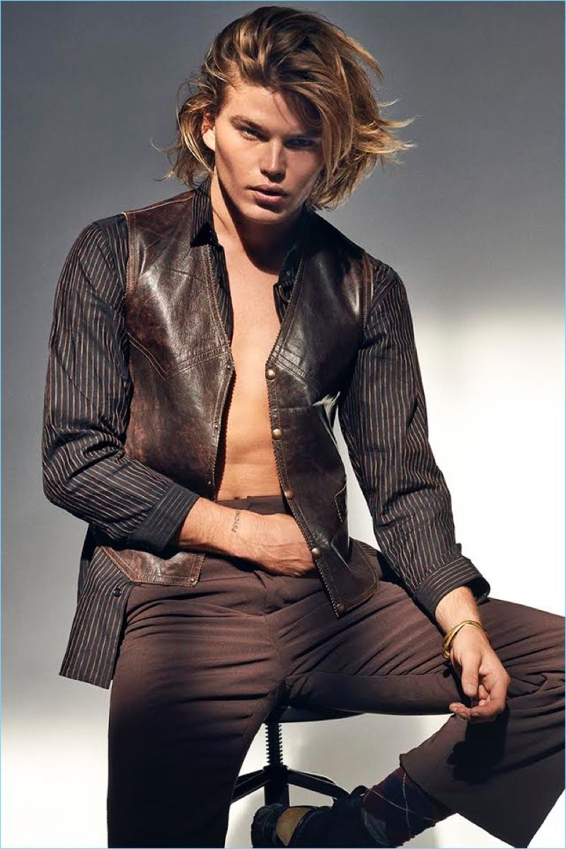 66db6195f1dd79 Jordan Barrett is the Wild Child, Covers GQ Portugal | Jordan ...