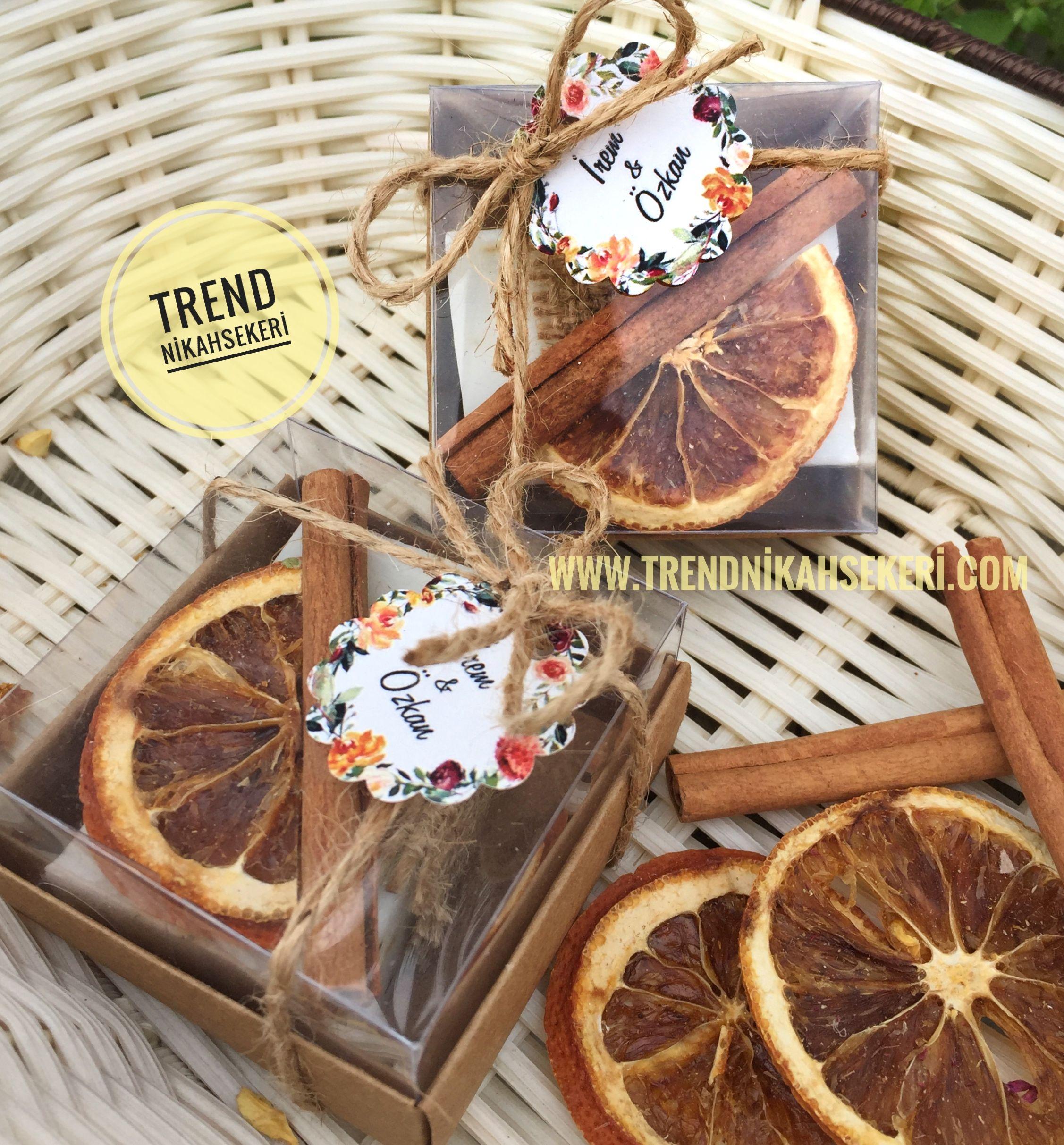 Portakal ve tarçın süslemeli hediyelik sabun