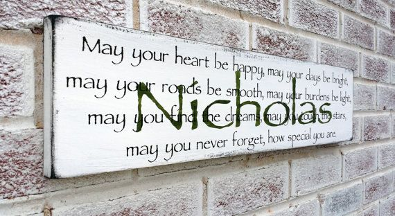 Customized Irish Blessing Proverb By Designsofexpression
