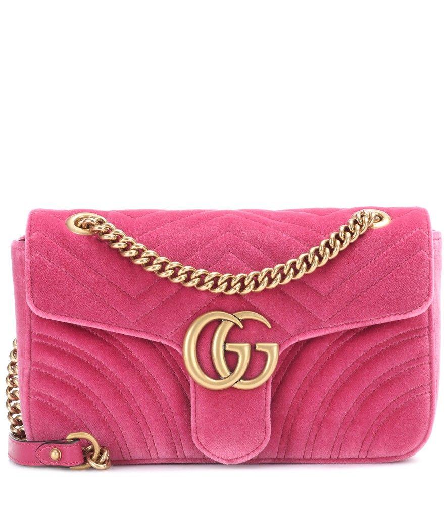 codice promozionale 13502 fedc8 Gucci - Borsa a tracolla GG Marmont Small in velluto ...