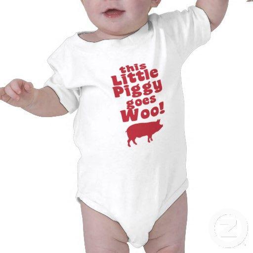 this Little Piggy Goes Woo! Infant onesie, $25 #Arkansas #Razorbacks #WPS