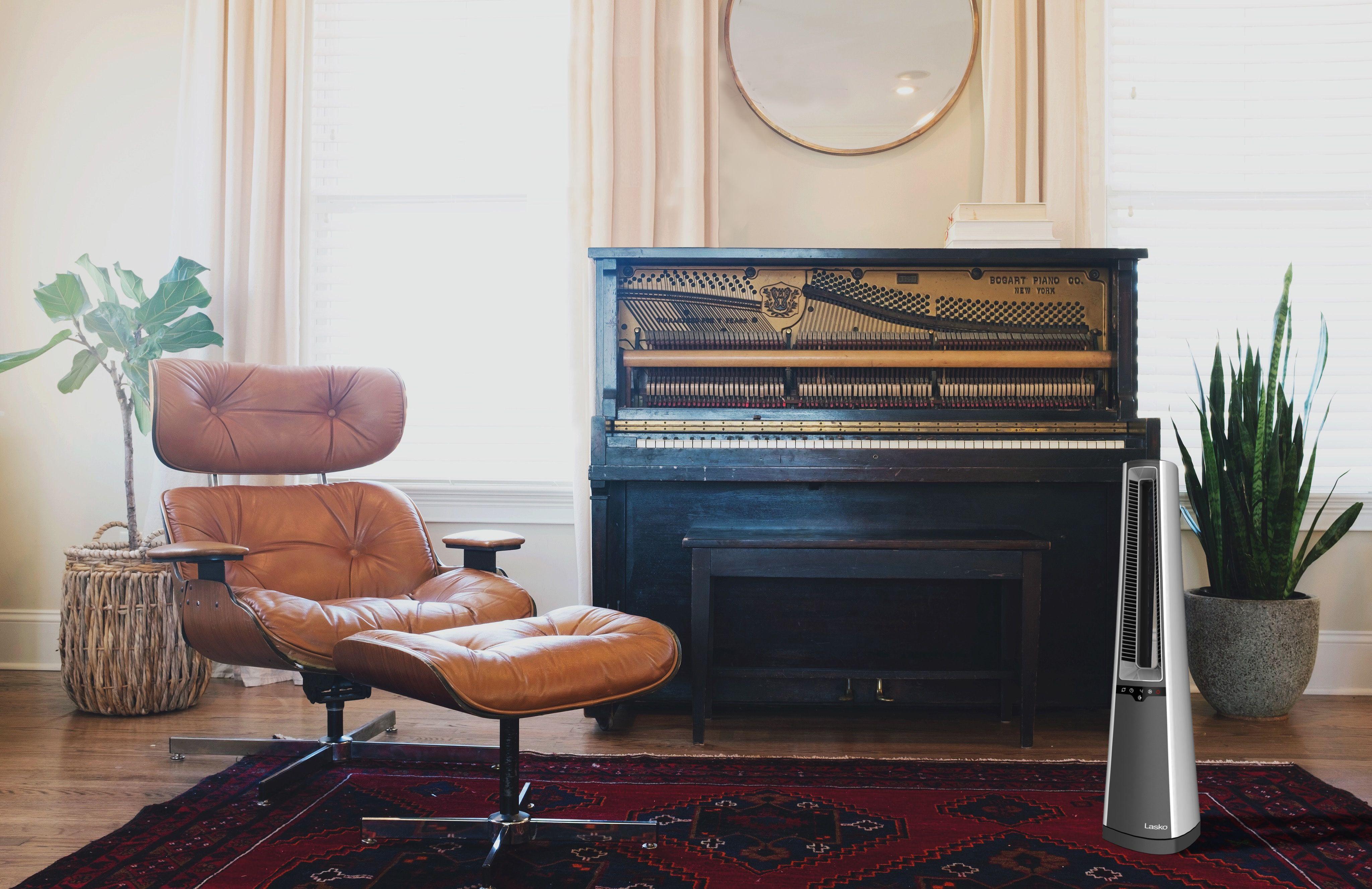 Bladeless Ceramic Heater With Remote Control Lasko In 2020 Classic Furniture Interior Interior Design