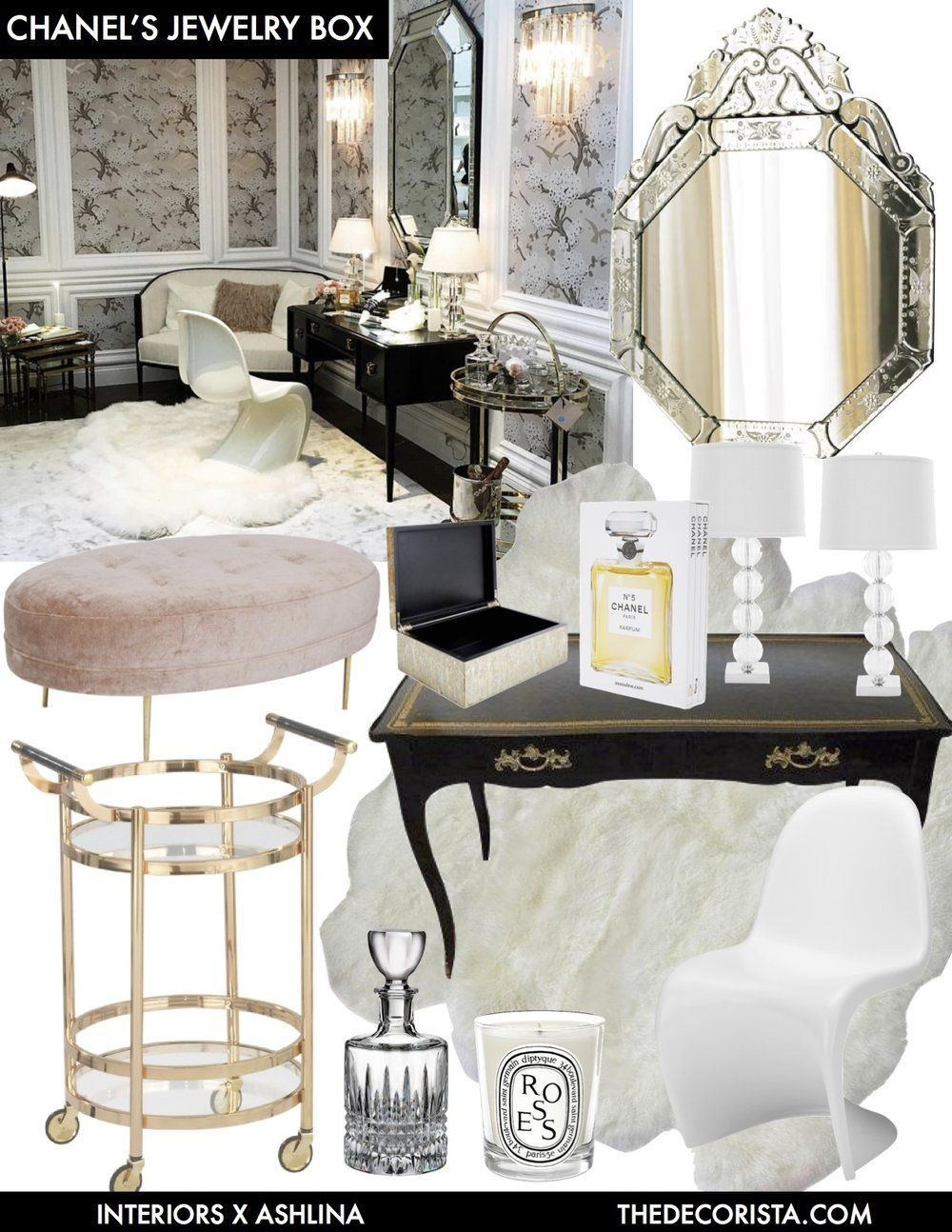 Delicieux 7 Decorating Rules Inspired By Coco Chanel U2014 The Decorista Modern Classic  Interior, Makeup Storage