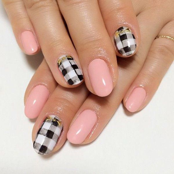 248 Creative Nail Art Designs For Girls Looking To Up: 35 Gingham And Plaid Nail Art Designs