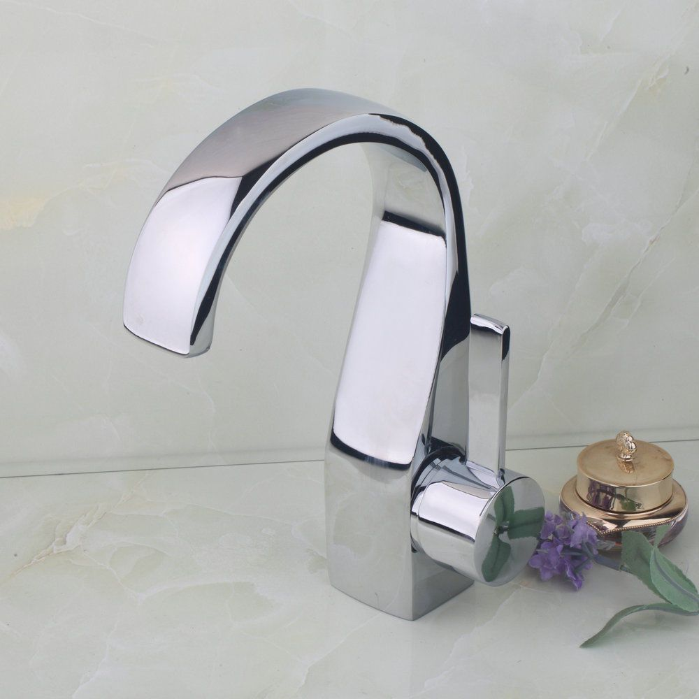 33.08 UK New Bathroom Chrome Waterfall Tap Basin Sink Mixer Taps ...
