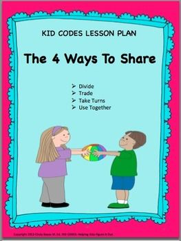 sharing  social skills lesson plans and activities for k
