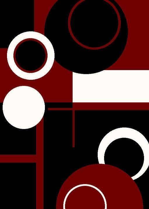 1010 Red Black White Blue Purple Modern Area Rug