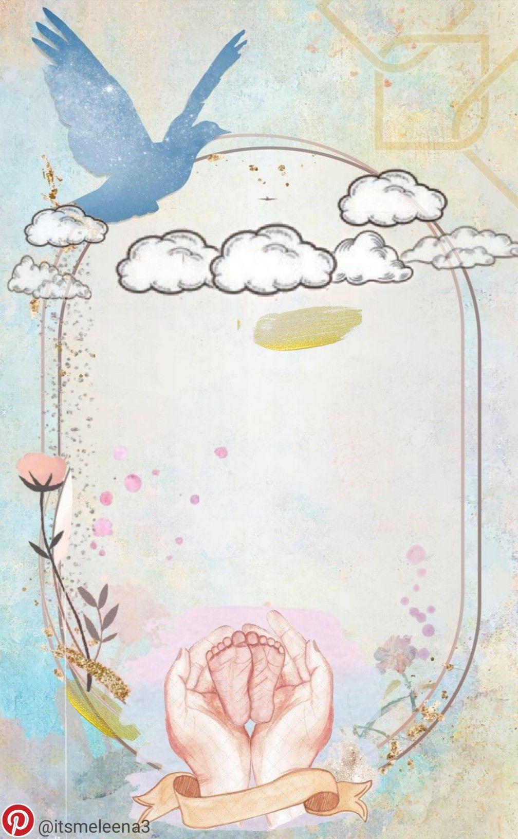 تصميم تصاميم اطار ثيم ثيمات خلفية مواليد مولود ولد اولاد تهنئة مفرغ Angel Baby Art Floral Poster Flower Background Wallpaper