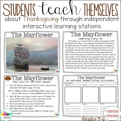 Teaching Thanksgiving Through Interactive Lessons & Stations ...