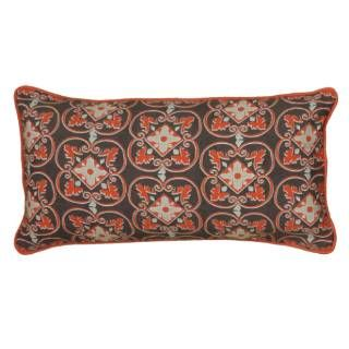 Check Out The Rizzy Home T06220 11 X 21 Pillow Cover With Hidden Zipper In Gray Orange Decorative Throw Pillows Rizzy Home Throw Pillows