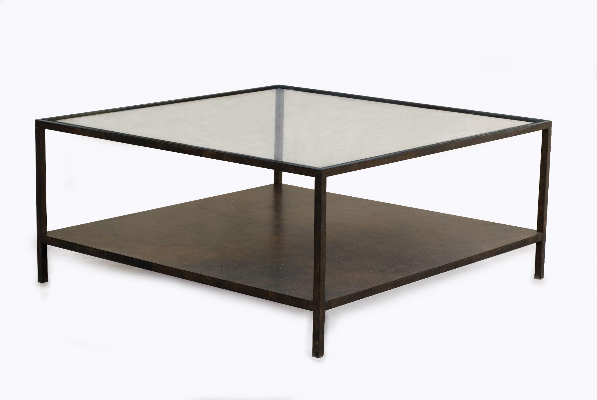 table basse carr e 1 plateau verre 1plateau tole sur mesure en 2019 table basse fer table