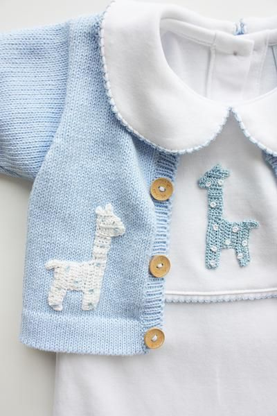Boy Giraffe Crochet Playsuit