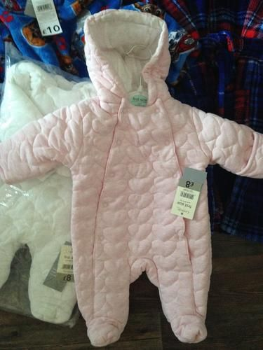 9dadfa9b0 Hooded Quilted Heart Pramsuit, read reviews and buy online at George at  ASDA. Shop from our latest range in Baby. Make sure your little one stays  snug with ...