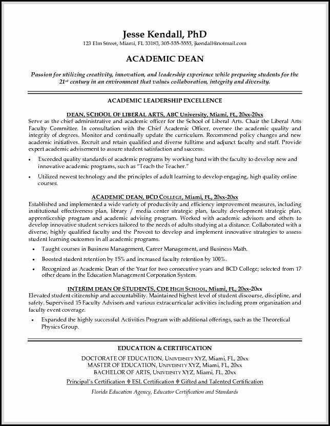 Academic resume sample shows you how to make academic resume