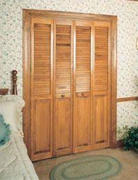 CraftMaster Louver Pine Wood Bifold Closet Door