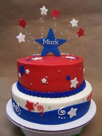 Awe Inspiring This Patriotic Birthday Cake Is Totally Vegan Happy Birthday Funny Birthday Cards Online Fluifree Goldxyz