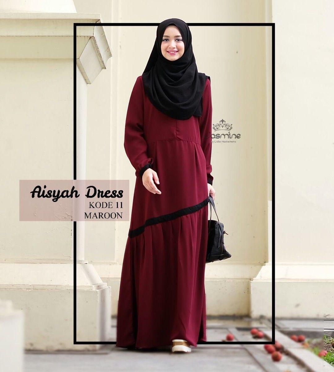 Gamis Jasmine Aisyah Dress 11 - baju gamis wanita busana muslim Untukmu yg  cantik syari dan 64121ebd54