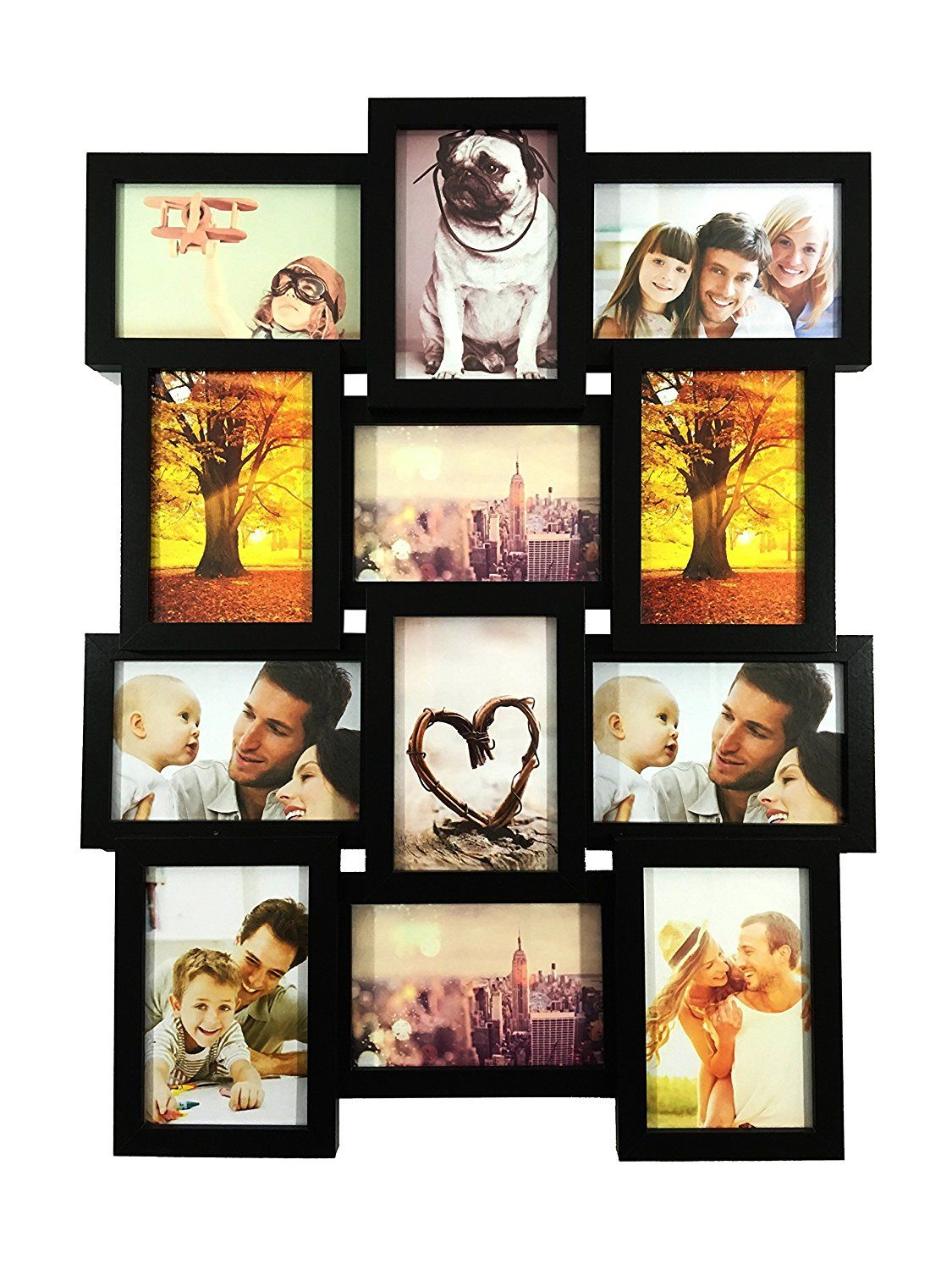 Bestbuy Frames 12 4x6 Inch Multiple Opening Wall Hanging Collage Picture Frame Details Can Be F Framed Photo Collage Collage Picture Frames Photo Frame Wall