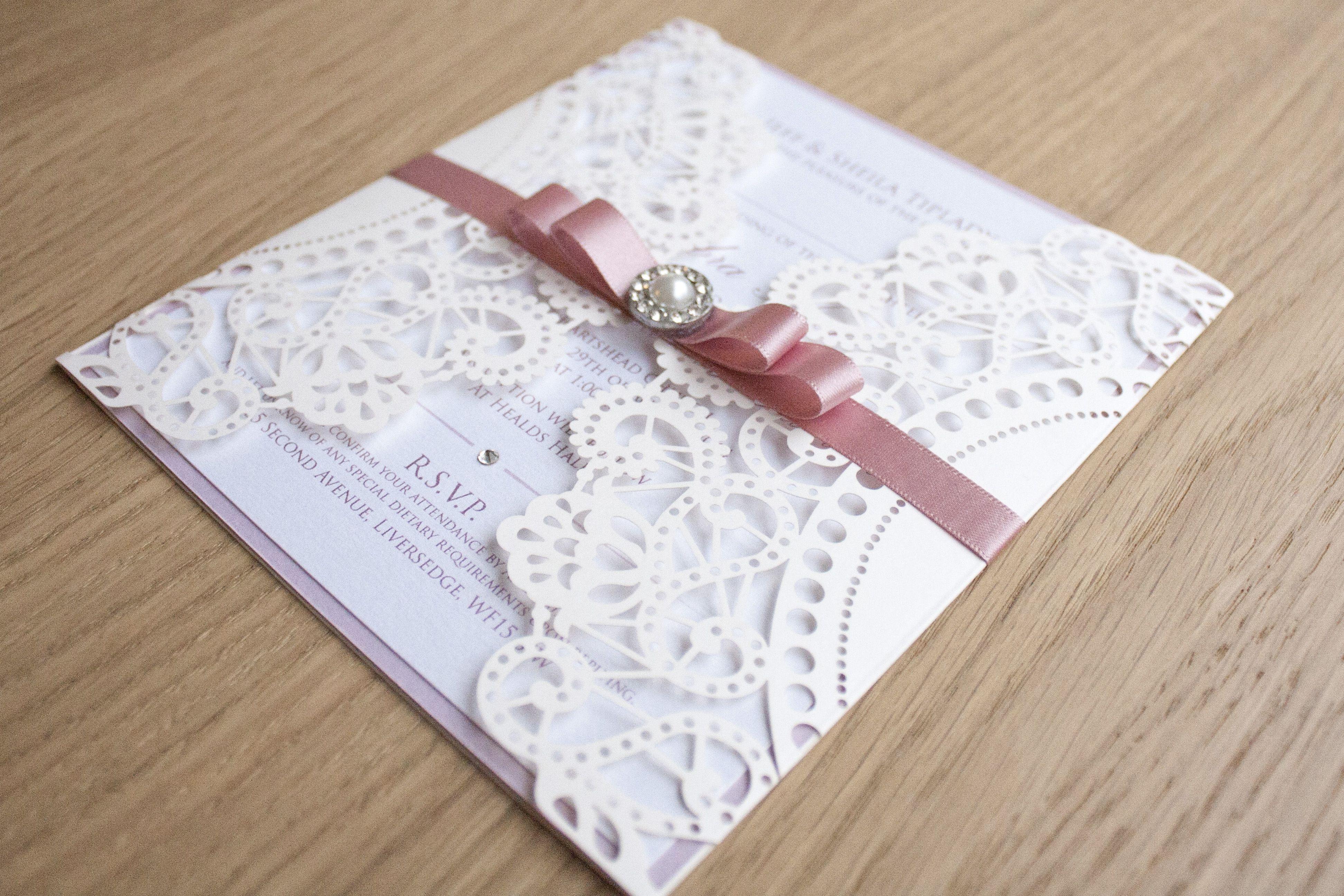 Laser cut wedding invitation - www.bruski.co.uk | Bruski & Bunns ...
