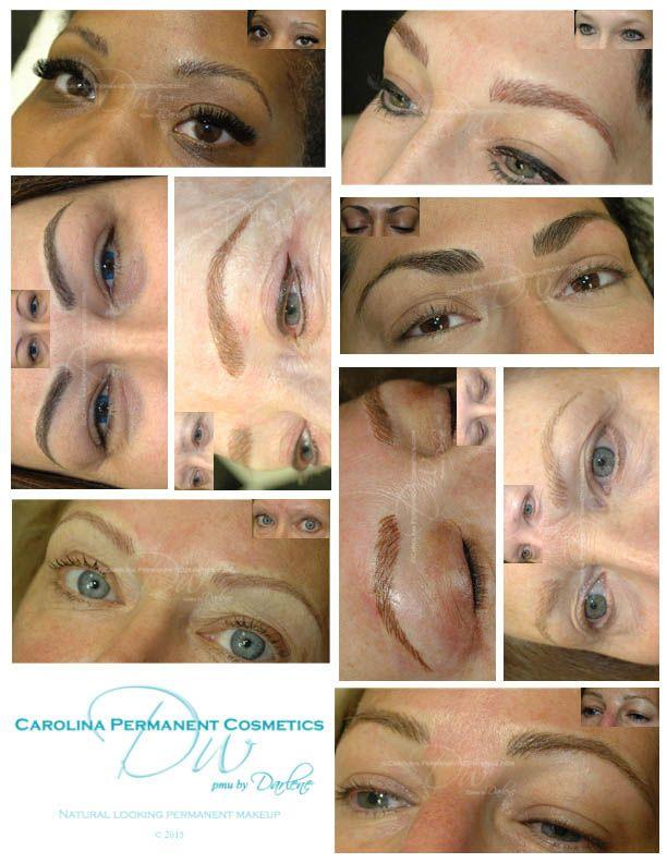 Permanent Tattoo Eyebrows Natural Looking Hair Strokes Brush