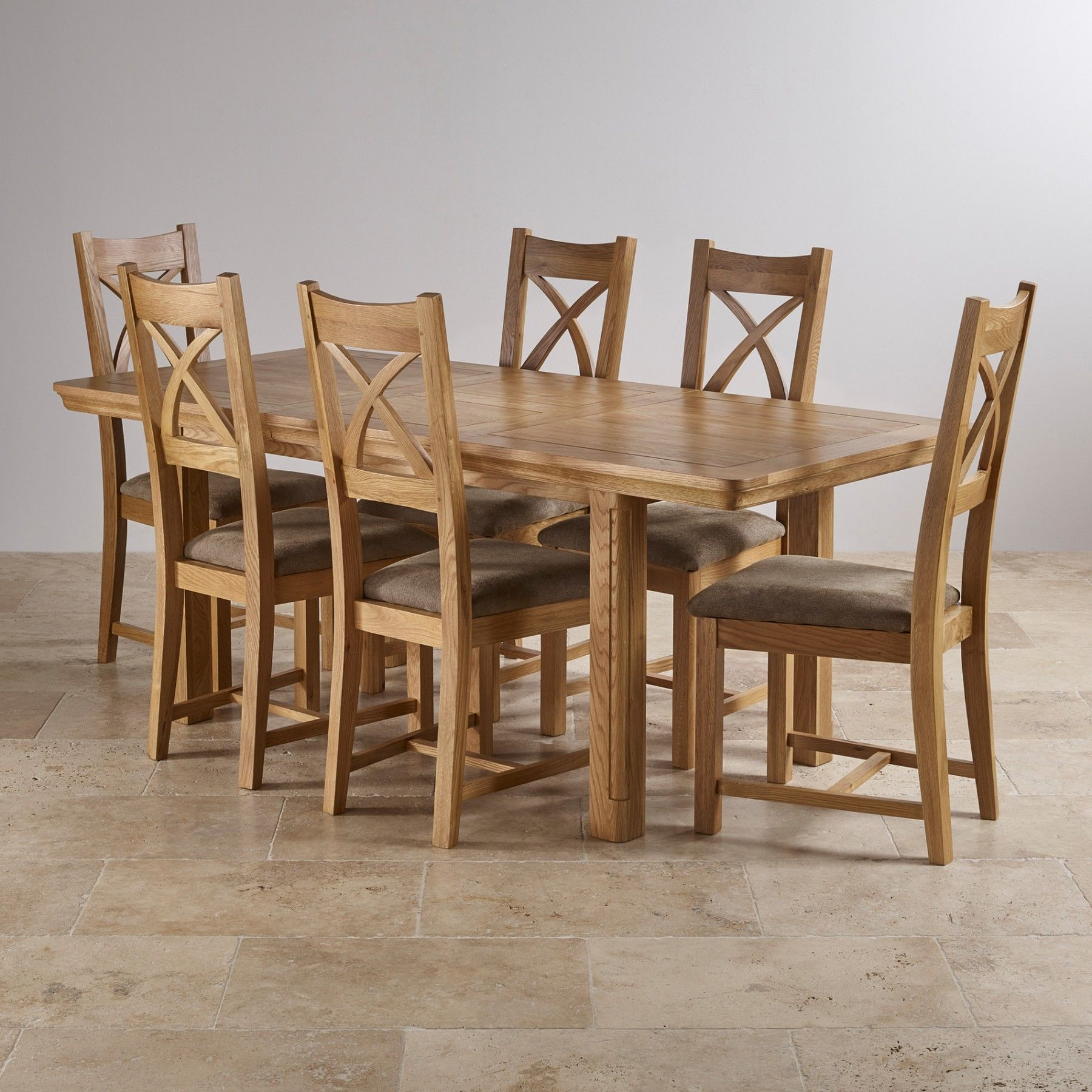 Phenomenal Canterbury Natural Real Oak Dining Set 5Ft Extending Table Andrewgaddart Wooden Chair Designs For Living Room Andrewgaddartcom