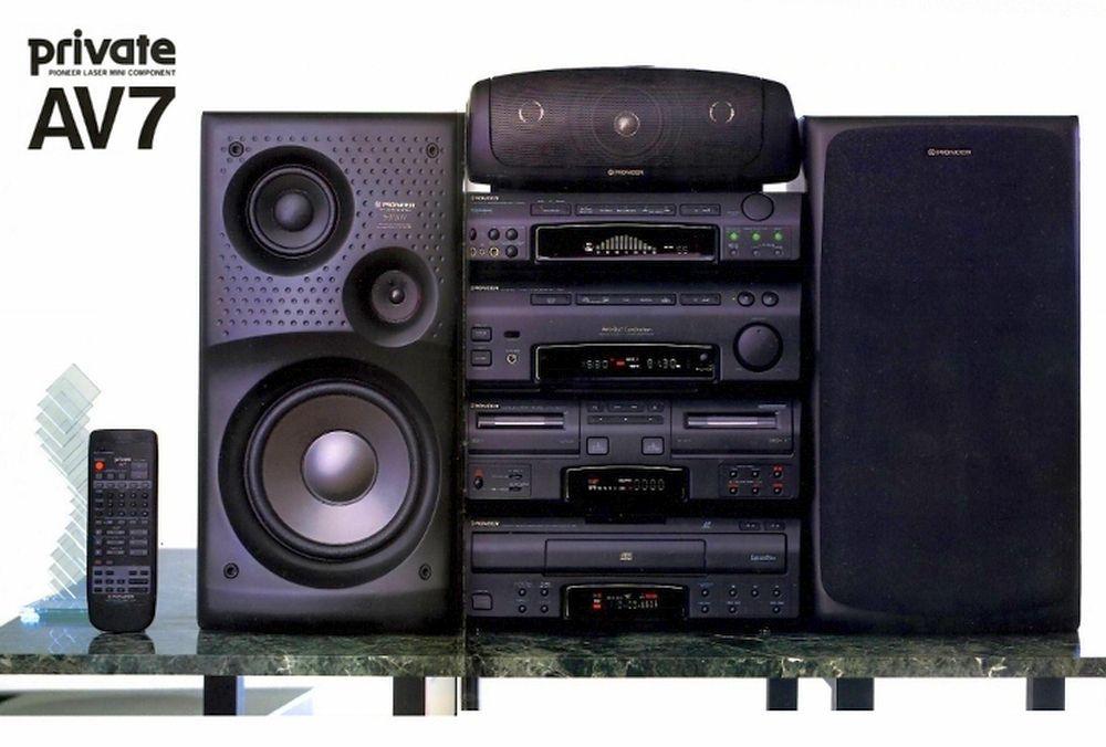 Laser Mini Component Pioneer Private 1995 Aparelho De Som Escola Velha Som