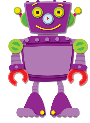 Robot Clip art, can be used for Robot Bolt counting game ...